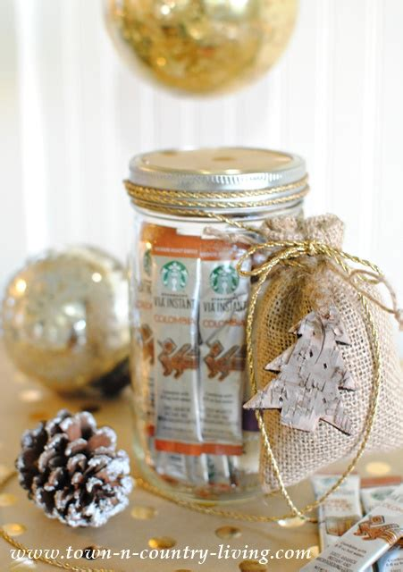 Coffee Lovers Gift in a Mason Jar   Town & Country Living