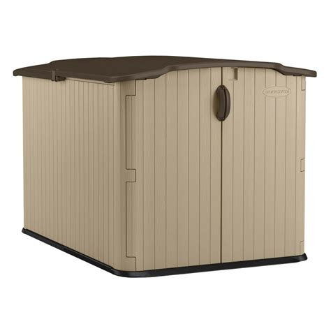 Suncast Sheds Home Depot by Suncast Glidetop 6 Ft 8 In X 4 Ft 10 In Resin Storage