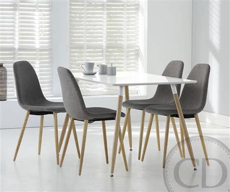 table de cuisine design table de cuisine blanche scandinave equinox sur cdc design