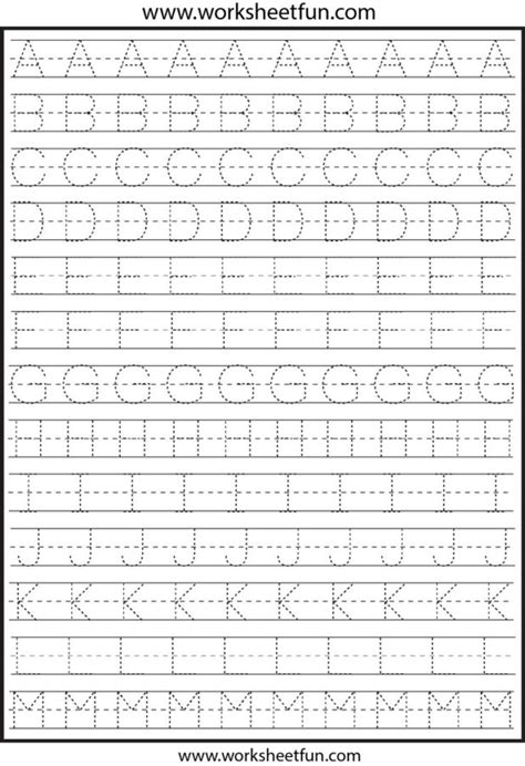 alphabet tracing worksheet alphabet alistairtheoptimist