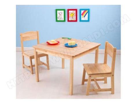 chaise de table pour bébé ensemble table et chaise enfant kidkraft table 2 chaises