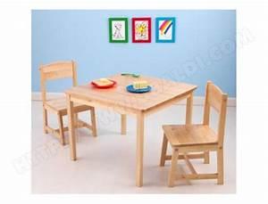 Chaise Enfant Pas Cher : ensemble table et chaise enfant kidkraft table 2 chaises aspen naturel 21221 pas cher ~ Teatrodelosmanantiales.com Idées de Décoration