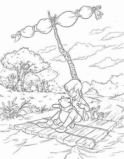 Pooh Winnie Coloring Pages Wood Acre Eeyore