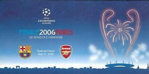 2006 UEFA CHAMPIONS LEAGUE FINAL POSTCARD FC BARCELONA v ...