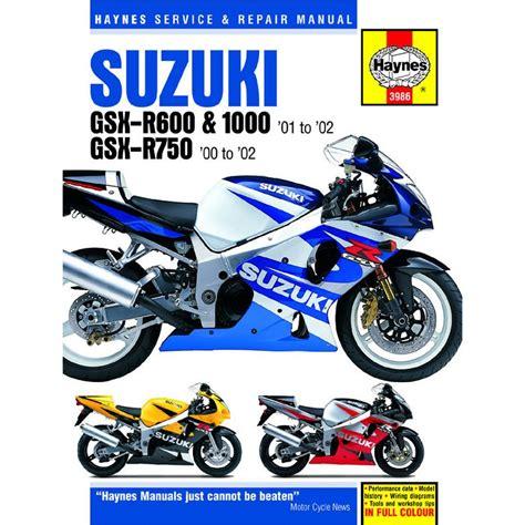 haynes manual 3986 suz gsx r600 750 1000 k1 k3 00 t1142401 03 ebay