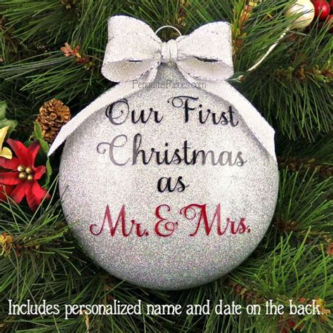 1000 ideas about first christmas married on pinterest first christmas together ornament