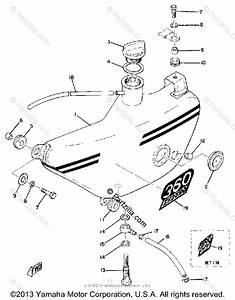 Yamaha Motorcycle 1970 Oem Parts Diagram For Oil Tank