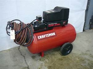 Craftsman Air Compressor 30 Gallon Tank Single Cylinder