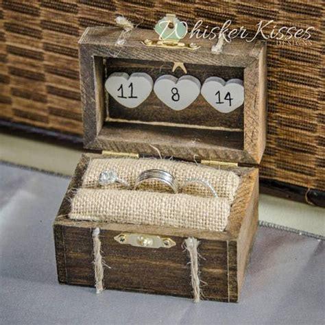 rustic wedding ring box whisker kisses designs