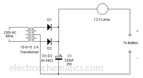 tricky  battery charger circuit