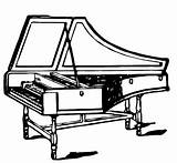 Harpsichord Coloring Pages sketch template
