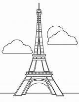 Eiffel Tower Coloring Paris French Drawing Seurat Icon Printable Skyscraper Magnificent Outline Template Sheet France Sheets Sketch Getdrawings Clip Torre sketch template