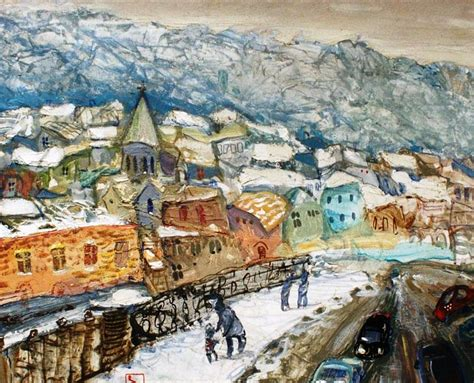 Amazing Winter Paintings By Famous Georgian Artists