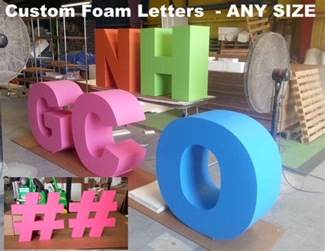 large foam letters foam letters big oversized letters and numbers