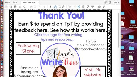 Making Clickable Thank You Page For Tpt Product Youtube