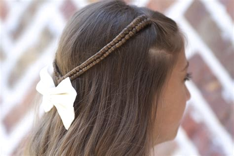 infinity braid tieback back to school hairstyles cute