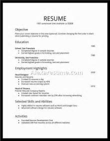How To Write Your Resume In High School by Resume Exles Best Business Template