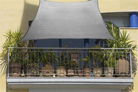 balkon sonnensegel   cm grau aus