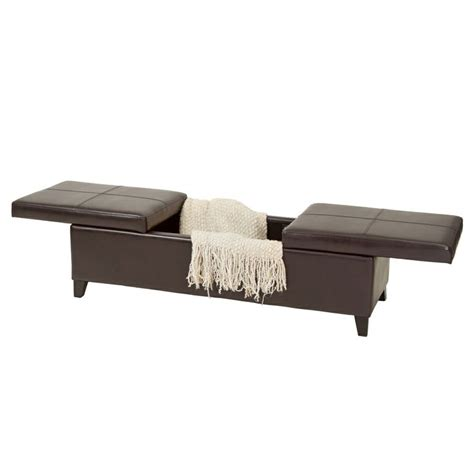 lift top storage ottoman christopher knight home lena double lift top leather