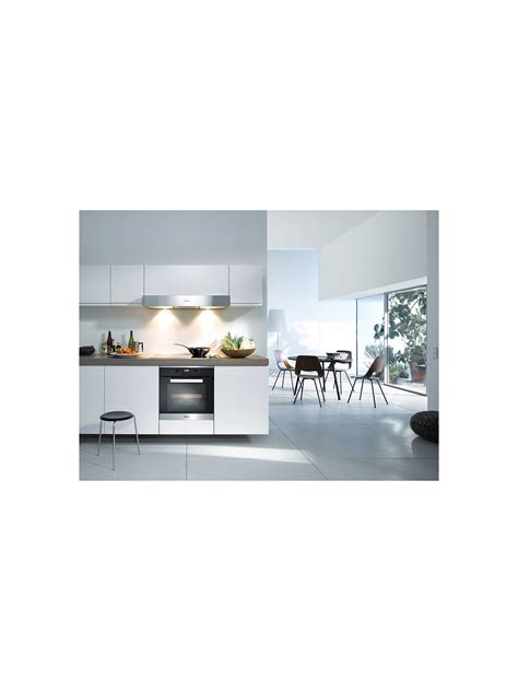 miele h2661 1b built in multifunction single oven brushed steel at lewis partners
