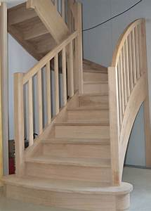 Escalier 3 4 Tournant : escaliers en bois sur mesure ~ Dailycaller-alerts.com Idées de Décoration
