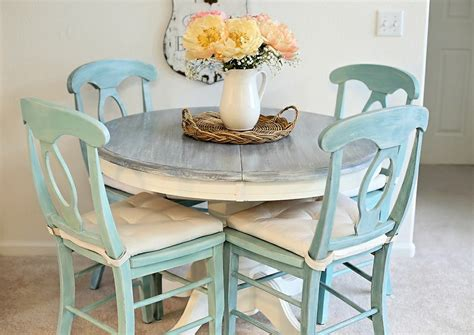 teal rustic kitchen table  house   farmhouse
