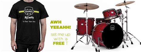 mapex drums mapex their mydentity drummers t shirt giveaway