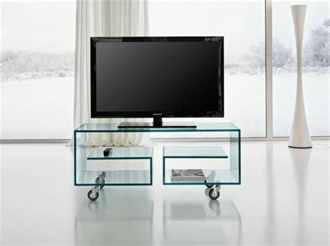 tv tisch glas tv tisch auf rollen 28 originelle designs archzine net