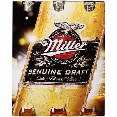 Miller Draft Genuine Alcohol Beer Bottles Pack