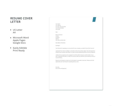 Accountant Cover Letter Doc by 36 Cover Letter Template In Word Free Premium Templates