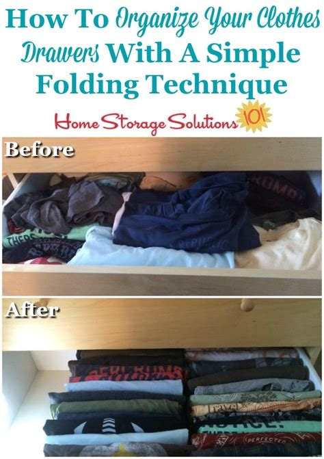 fold shirts drawer storage clothes drawers trick solutions shirt folding organizing organize simple readers ve before lots these