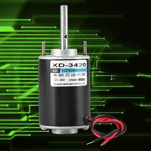 12  24v 30w Permanent Magnet Dc Electric Motor High Speed Cw  Ccw Diy Generator Es