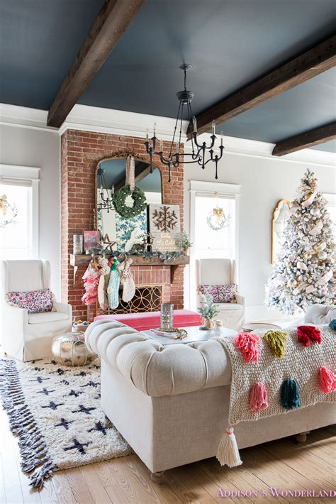 Christmas wall decor ideas that anyone can pull off 33 christmas decorations ideas bringing the spirit into 33 christmas decorations ideas bringing the spirit into living room christmas decoration ideas xmas decorations kitchen 30 easy diy christmas decorations homemade holiday decor ideas 33 christmas decorations ideas bringing the spirit into. Our Colorful Christmas Holiday Living Room Home Tour