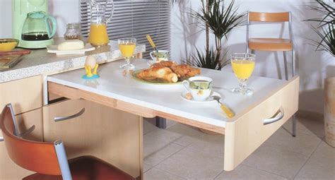 modele de table de cuisine beau model de cuisine equipee 4 table escamotable