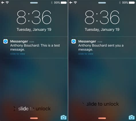 how to see notifications on iphone hide messenger notification previews from the