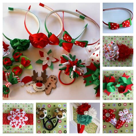 accessory design christmas hair accessories from alice and lilly handmade
