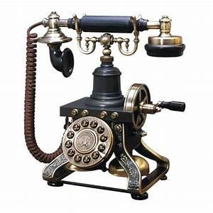 Telephone Mural Vintage : black vintage telephone retro rotary plate old phone cord antique office decor ebay ~ Teatrodelosmanantiales.com Idées de Décoration