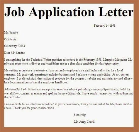 applications letter application letter sample