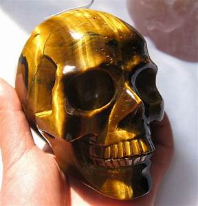 Amazing Tiger Eye Carved Crystal Skull/ Tiger Eye Stone ...