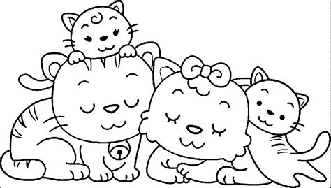 animal family coloring page az coloring pages
