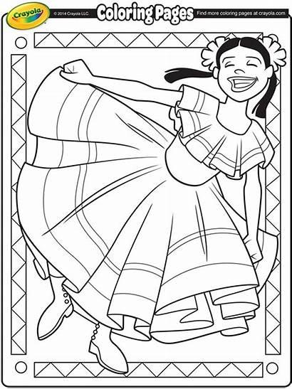 Coloring Mayo Cinco Crayola Dancer Pages