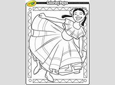 Cinco de Mayo Dancer Coloring Page crayolacom