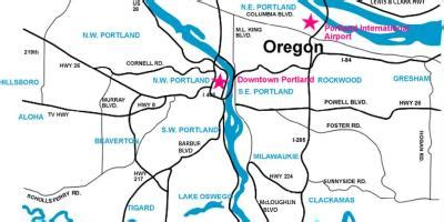 portland map maps portland oregon usa