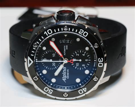 Alpina Extreme Diver 300 Chronograph Automatic Watch Hands
