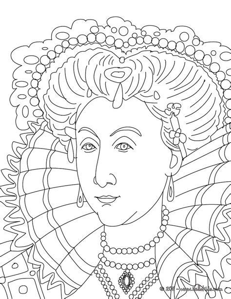 queen elizabeth  coloring pages hellokidscom