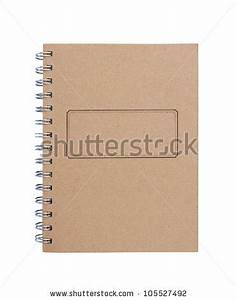Recycled Paper Blank Notebook Front Cover On White ...