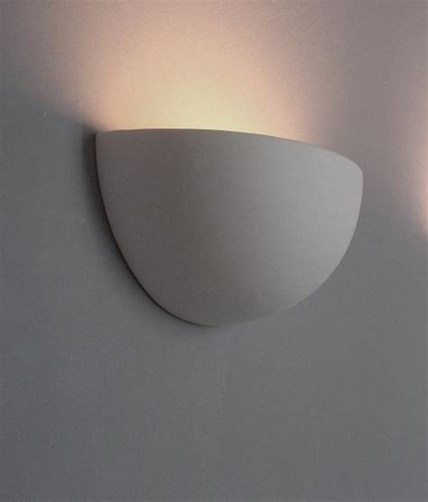 half bowl ceramic wall uplight for filament ls