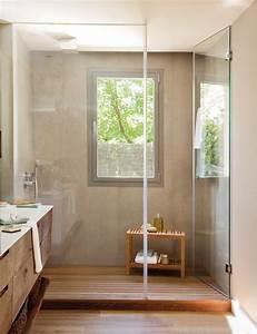 Fenetre Dans Douche : 20 salles de bains modernes avec parois de douche en verre ~ Melissatoandfro.com Idées de Décoration