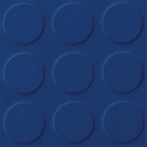 Cobalt, blue coloured synthetic rubber tile flooring