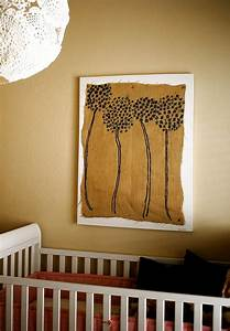 Framed burlap diy wall art decoist